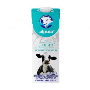 LECHE UHT ALPURA DESLACTOSADA LIGHT 1 LT