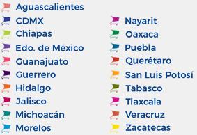 Lista de los estados donde hay Tiendas Neto
